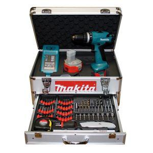 Perceuse visseuse à percussion Makita 8271DWPEX + 2 batterie 12 V + coffret 67 accessoires