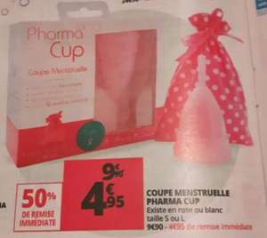 Coupe menstruelle Pharma Cup - Rose ou Blanc, Taille S ou L