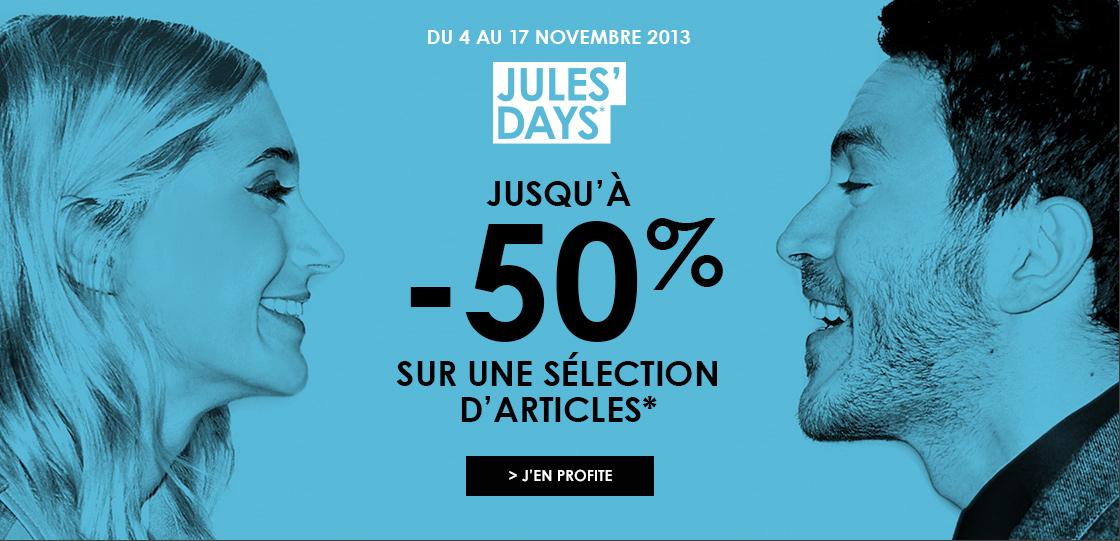 Jusqu'à -50% sur une sélection d'article en boutique ou sur le net