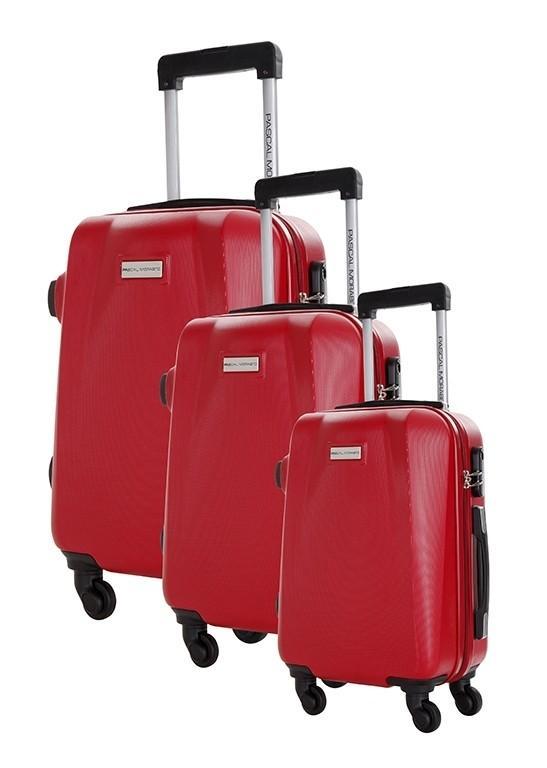 Sélection de bagages en promotion - Ex : set de 3 valises Pascal Morabito Bussenite - différents coloris (26, 45 et 67 L)