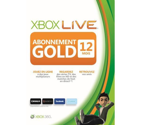 Abonnement 12 Mois Xbox Live Gold