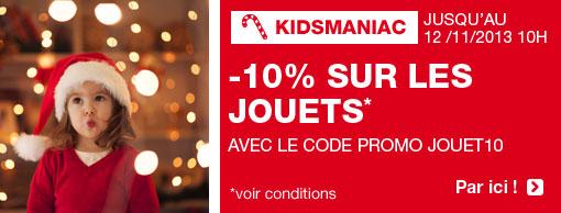 10% et livraison gratuite sur tous les jouets