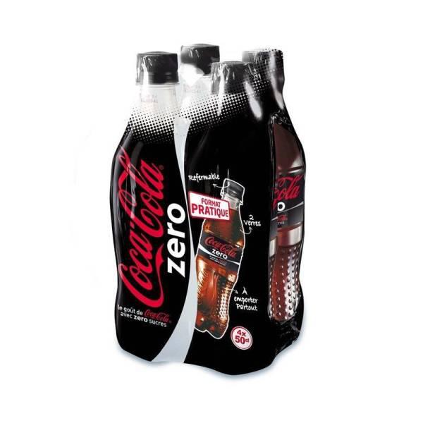 Pack 4 bouteilles de 50cl Coca Cola Zero ou Light