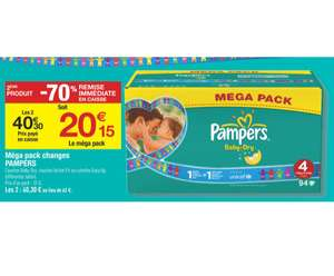 -70% sur le 2nd pack Pampers (Baby-Dry, Active Fit ou Easy Up)