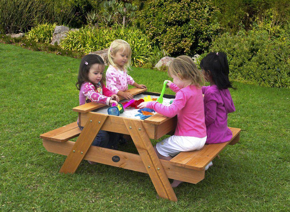 Table de pique-nique bac à sable en bois pour enfants (14€ de frais de port)