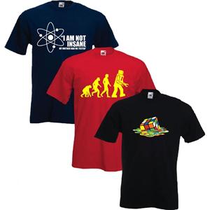 3 T-Shirts tirés de la série The Big Bang Theory