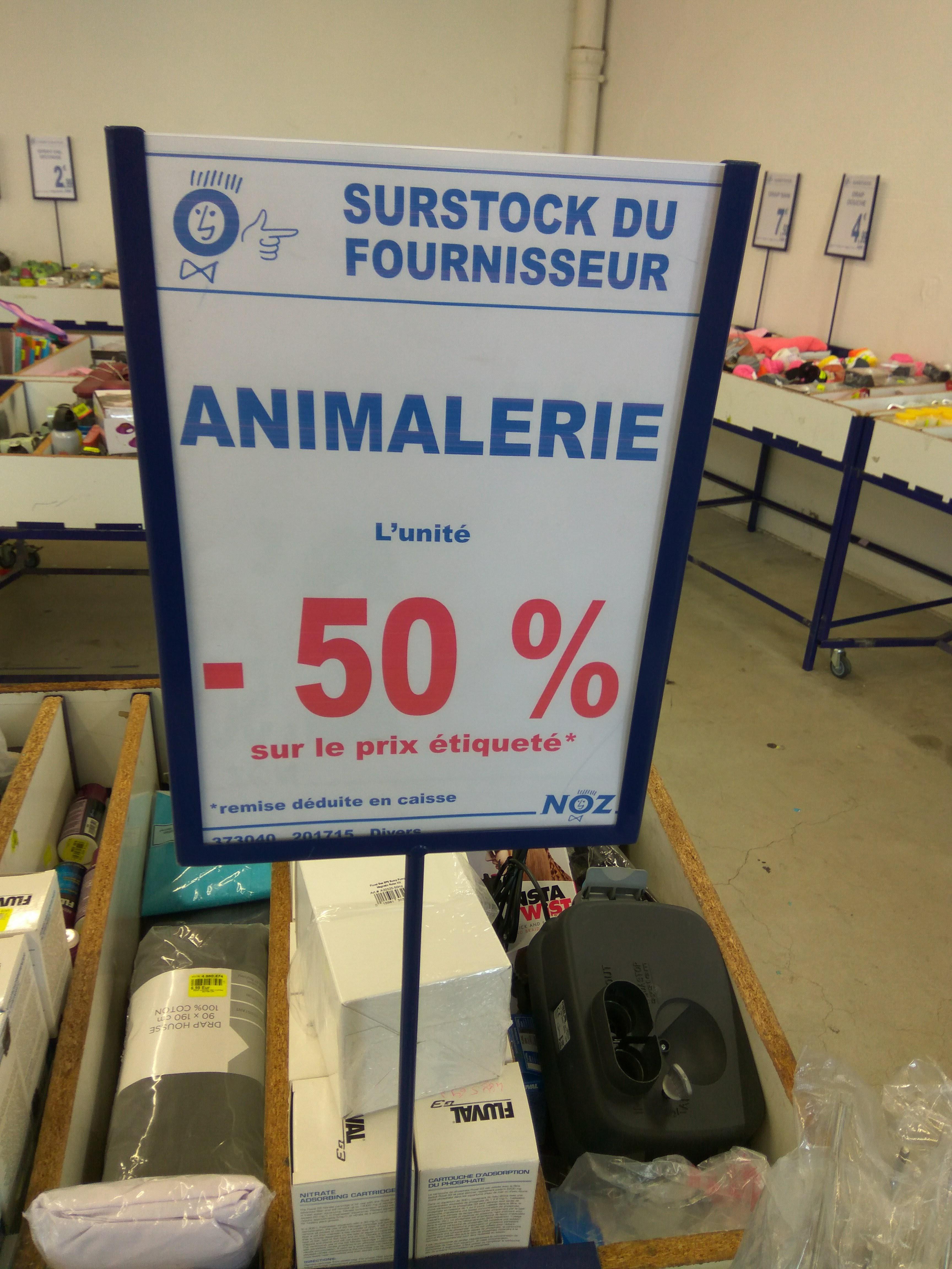 50% de réduction sur l'animalerie - Ex : Filtre à Charbon Fluval 2+