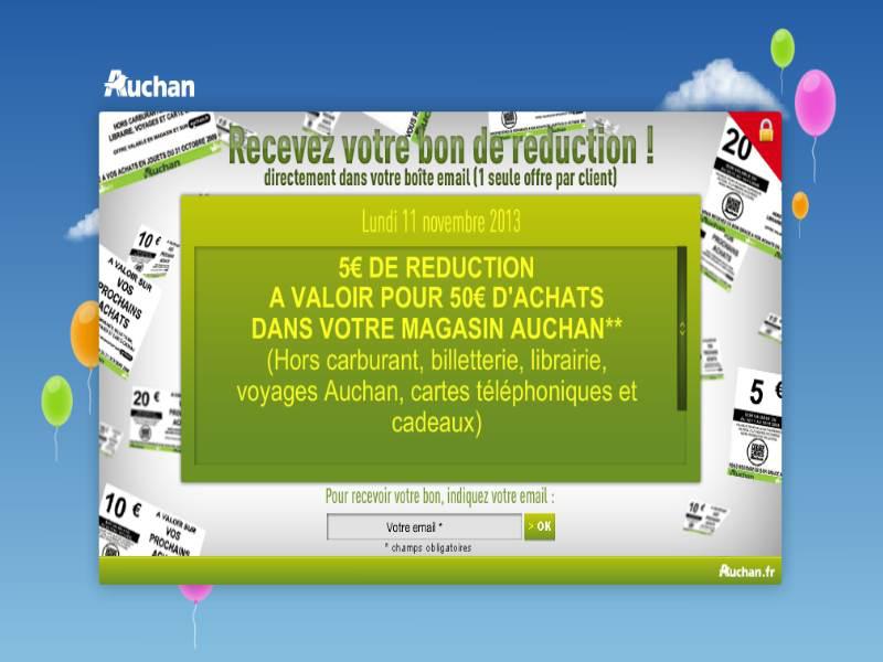 Bon de réduction de 5€ pour 50€ d'achat