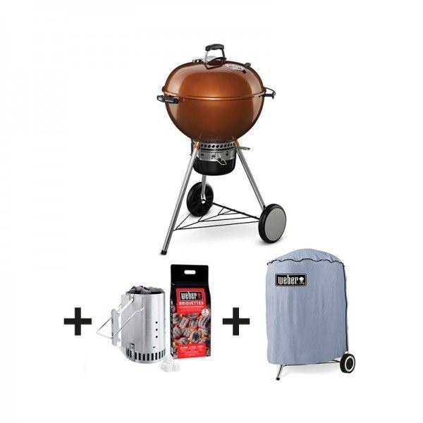 barbecue charbon weber mastertouch gbs 57cm cuivre kit chemin e housse. Black Bedroom Furniture Sets. Home Design Ideas