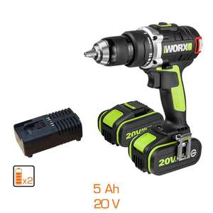 Perceuse Visseuse Brushless Worx WU175 (20V / 2x5.0ah)