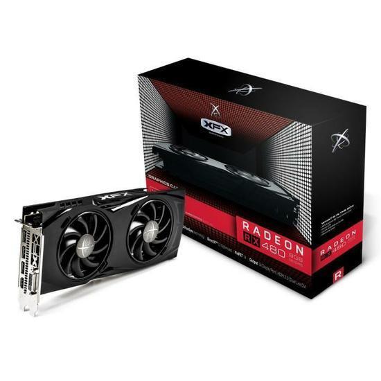 Carte graphique XFX Radeon RX 480 Black Edition GTR - 8 Go, GDDR5