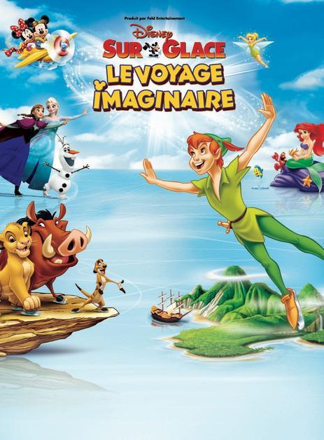 50% de réduction sur une sélection de dates et catégories du nouveau spectacle Disney sur Glace : Le Voyage Imaginaire - Place Adulte