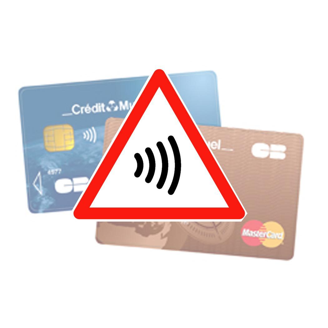 Lot de 5 protections pour carte bancaire sans contact (NFC)