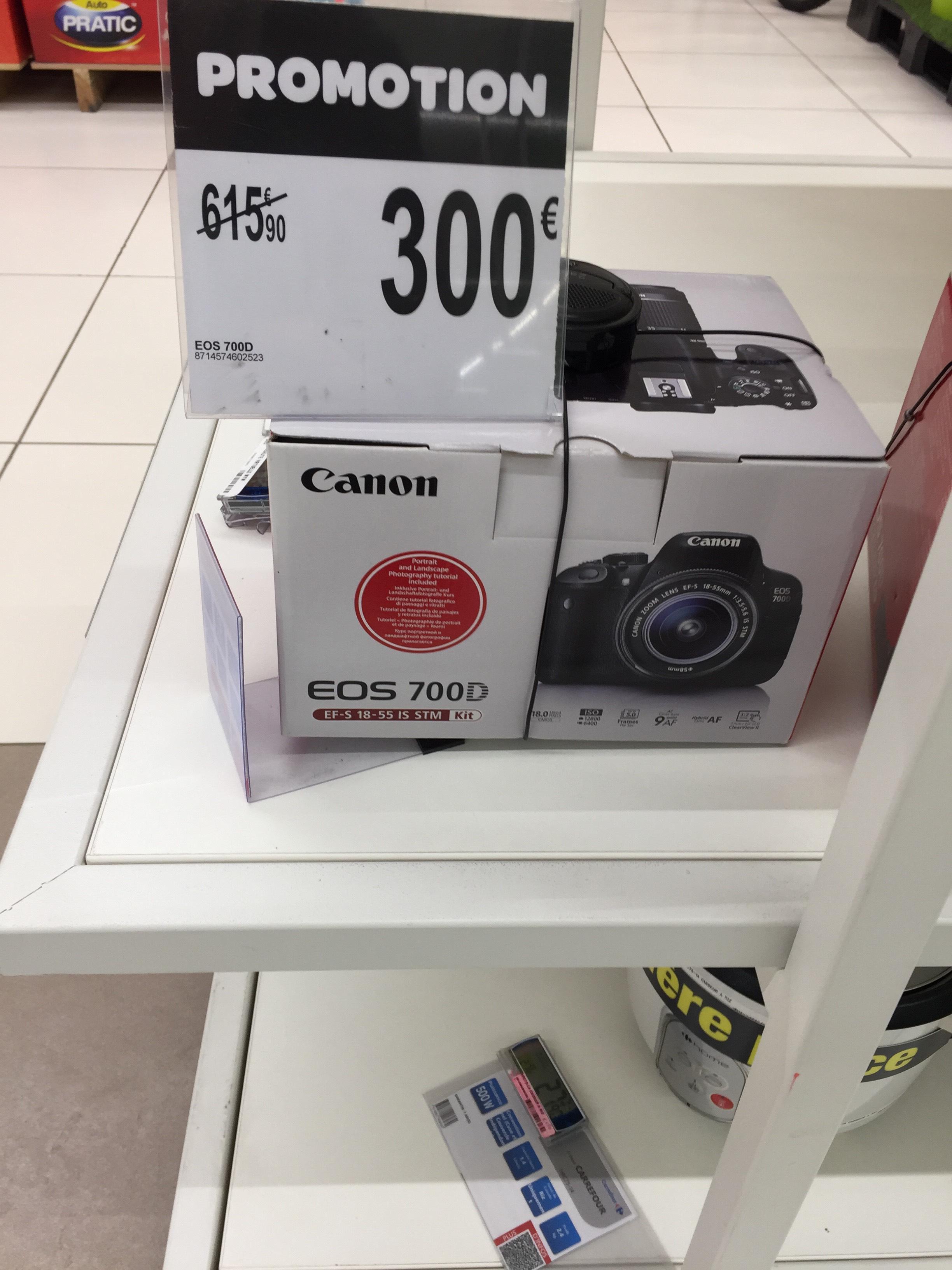 Reflex numérique Canon EOS 700D + Objectif EF-S 18-55 IS STM