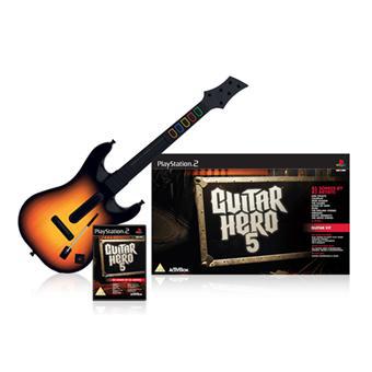 Guitar Hero 5 + guitare sur Playstation 2