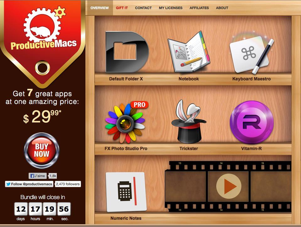 """bundle d'applications bureautique, de productivité """"Productive Macs"""" MAC OS"""
