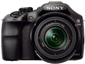 "Appareil photo hybride Sony Alpha 3000 - 3"" - 20 Mpix USB/HDMI + Objectif 18-55 mm Noir + 40€ de carte cadeau"