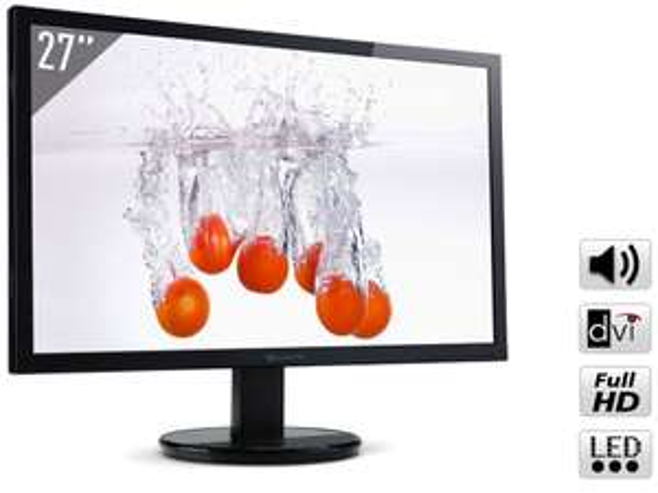 "Moniteur 27"" LED Packard Bell 273Dbmd Full HD - 6 ms - DVI / VGA"
