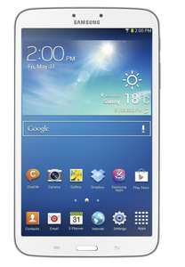 """Tablette 8"""" Samsung Galaxy Tab 3 - Dual-core 1,5 GHz, 16 Go, Android Jelly Bean 4.2.1, Wi-Fi, Blanc"""