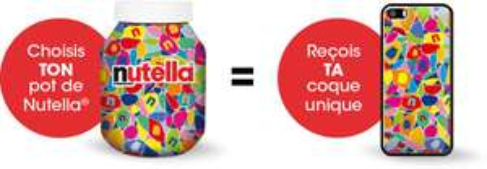 Coque ou étui pour smartphone offert pour l'achat de 1 pot de Nutella collector (950 g)