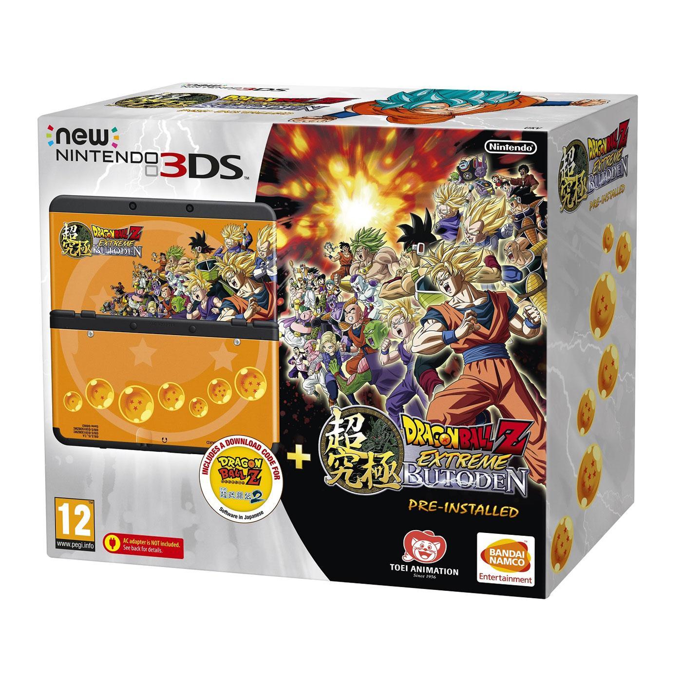 Console Nintendo New 3DS + DBZ + Bravely Defaut + Pokemon X + Pochette Pokemon X/Y