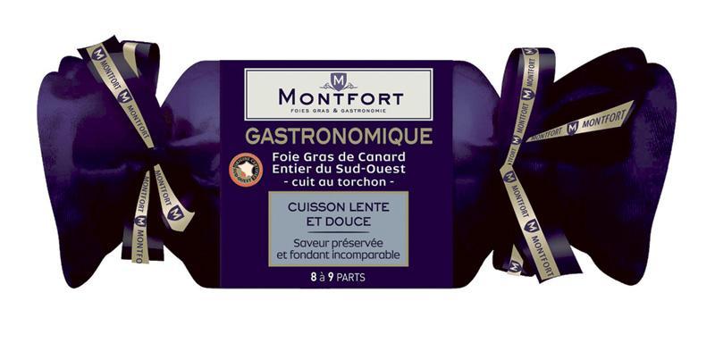 Foie gras de canard entier du Sud-Ouest Montfort Gastronomique - cuit au torchon, 300 g (DLC courte)