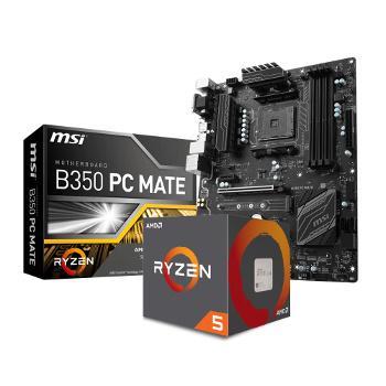 Pack processeur Amd Ryzen 5 1500X + Carte mère MSI B350 PC Mate