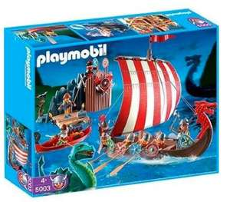 Playmobil - 5003 - Drakkar et Camp des Vikings