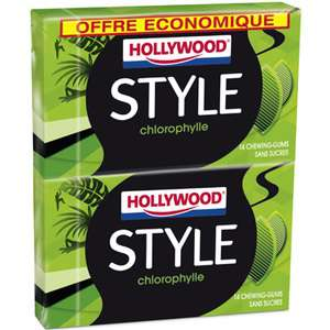 2 lots de chewing gum Hollywood Style gratuits