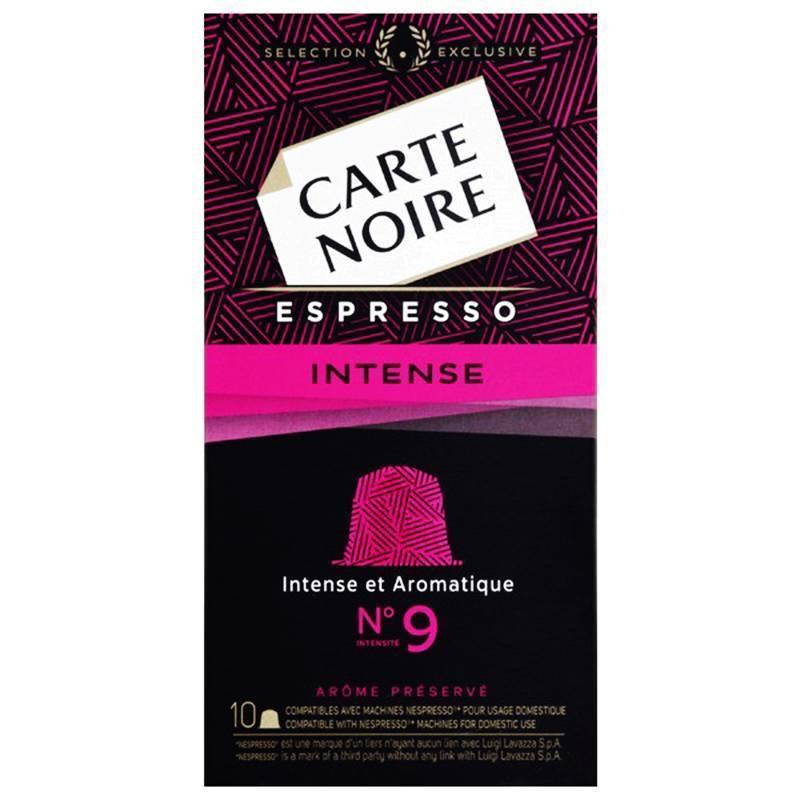 Lot de 2 packs de 10 capsules Café Carte Noire 9 Intense compatible Nespresso (via bon de réduction)