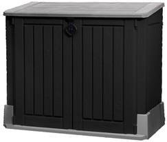 Coffre de jardin Keter - 845 L, noir / gris – Dealabs.com