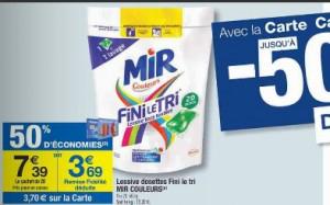 Lessive Mir Fini le tri capsules (x20)