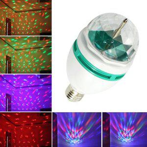 Lampe E27 3W RGB multicolore tournante