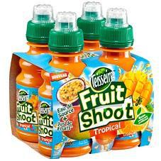 Pack de 4 bouteilles Fruit Shoot 20 cl (70% de réduction sur carte de fidélité)