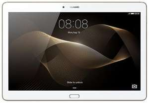 "Tablette 10.1"" Huawei MediaPad M2 Or / Blanc - Full HD, Quad-core Hisilicon Kirin 930 1.5GHz, RAM 2Go, 16Go, Android 5.1"