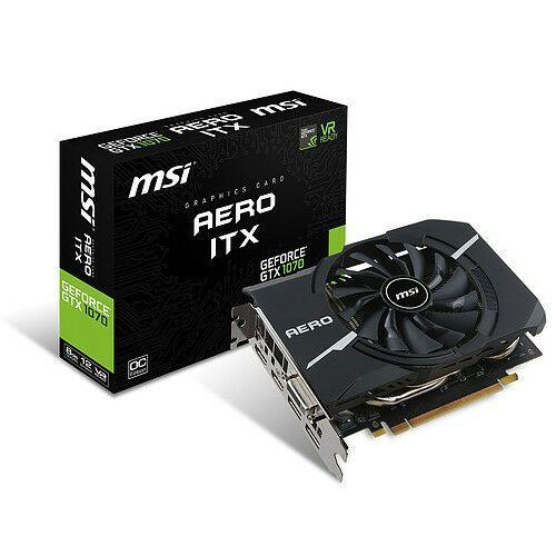 Sélection de Cartes Graphiques MSI en Promotion - Ex: GeForce GTX 1070 AERO ITX 8G OC (via ODR 30€)