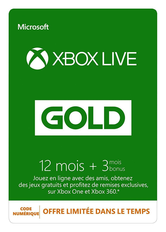 Abonnement de 15 mois au Xbox Live Gold (Dématérialisé)