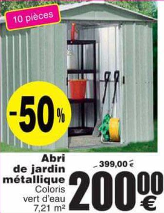 Abri de jardin métallique - 7,21 m²