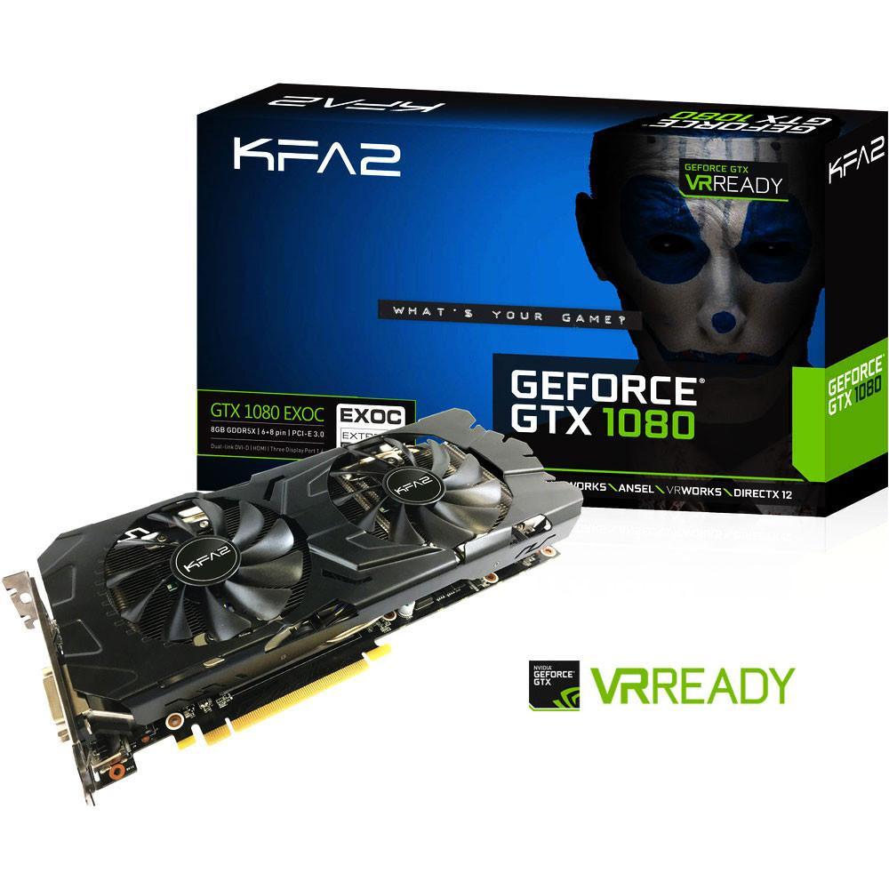 Carte graphique KFA2 GeForce GTX 1080 Exoc - 8 Go, GDDR5X