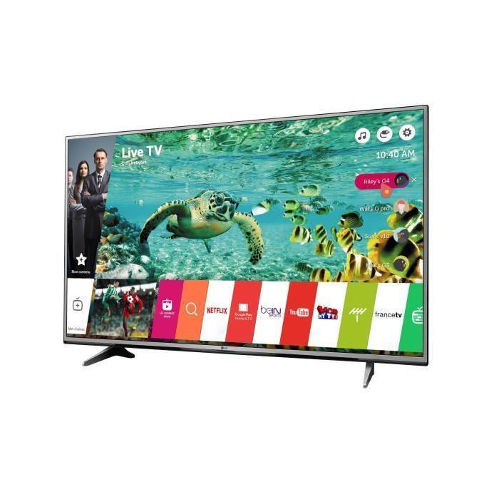 "TV 65"" LG 65UH615V - WebOS 3.0, IPS 4K, HDR Pro, 3 HDMI, Ultra Slim, 1200 PMI (100Hz)"