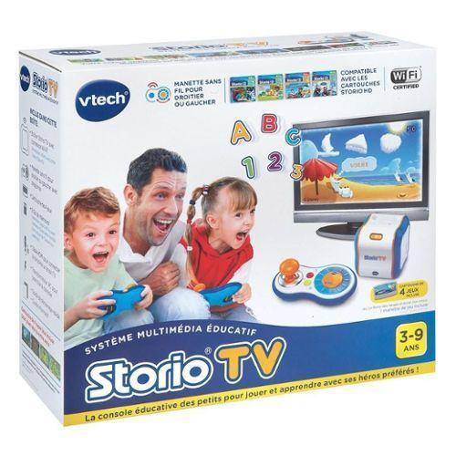 Console de jeu Storio TV avec une cartouche de  4 jeux inclus