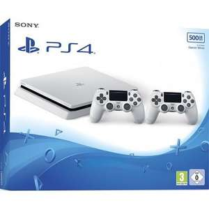 Console Sony PS4 500 Go blanche + 2 manettes blanches + 3ème manette noire + Overwatch