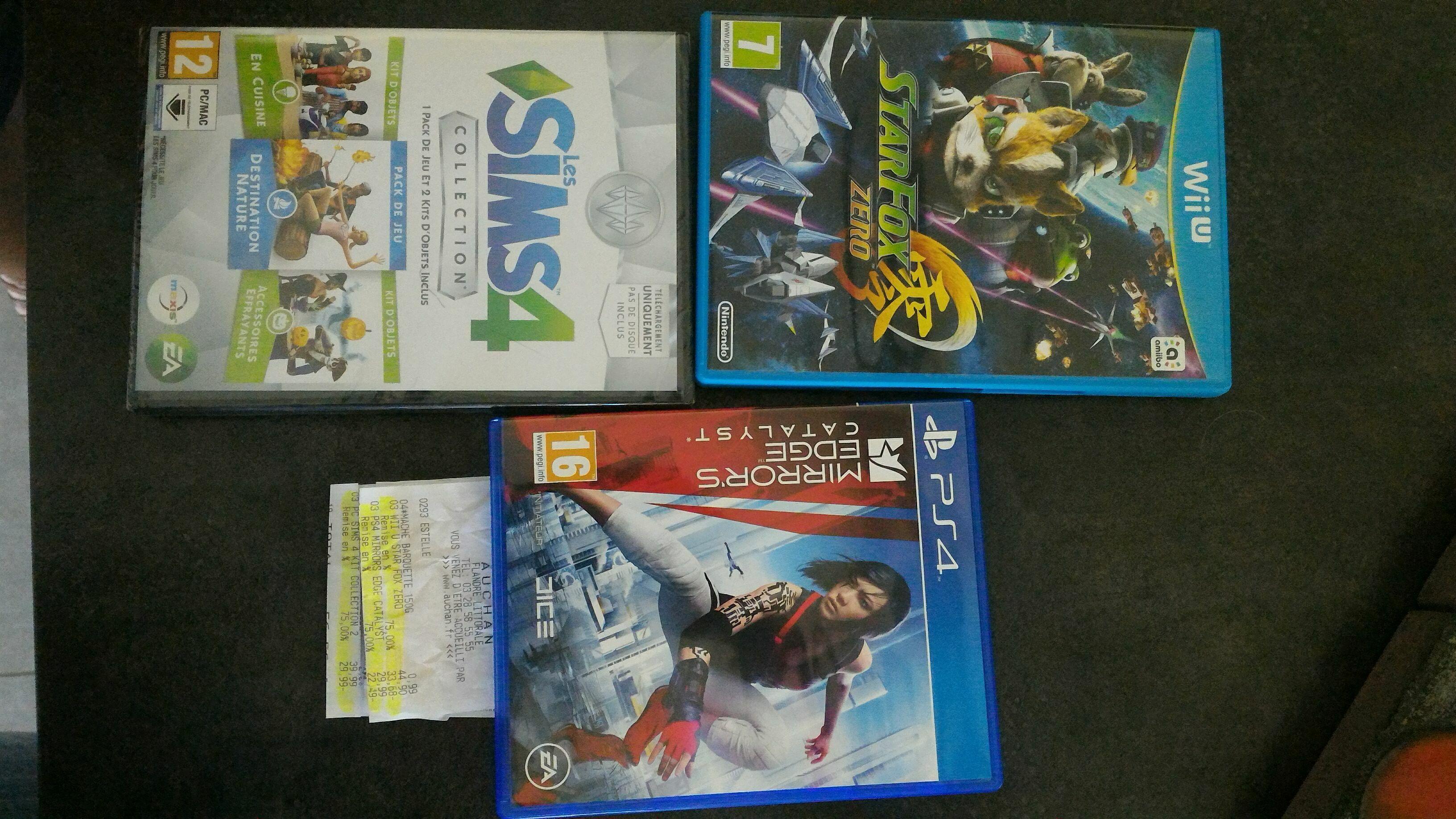 Sélection de jeux vidéos en promotion - Ex : Jeu Starfox Zero sur Wii U