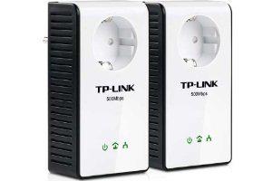Pack de 2 CPL TP-Link TL-PA551KIT Gigabit Ethernet Powerline, prise secteur intégrée 500 Mbps