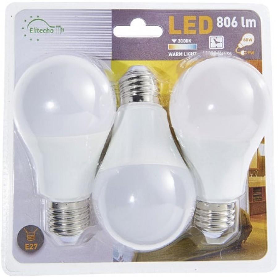 [Carte fidélité] Pack de 3 ampoules LED 9 W E27