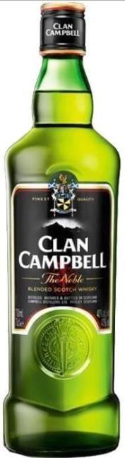 1 Bouteille de Whisky Clan Campbell - 70cl (via 6.57€ sur la carte)