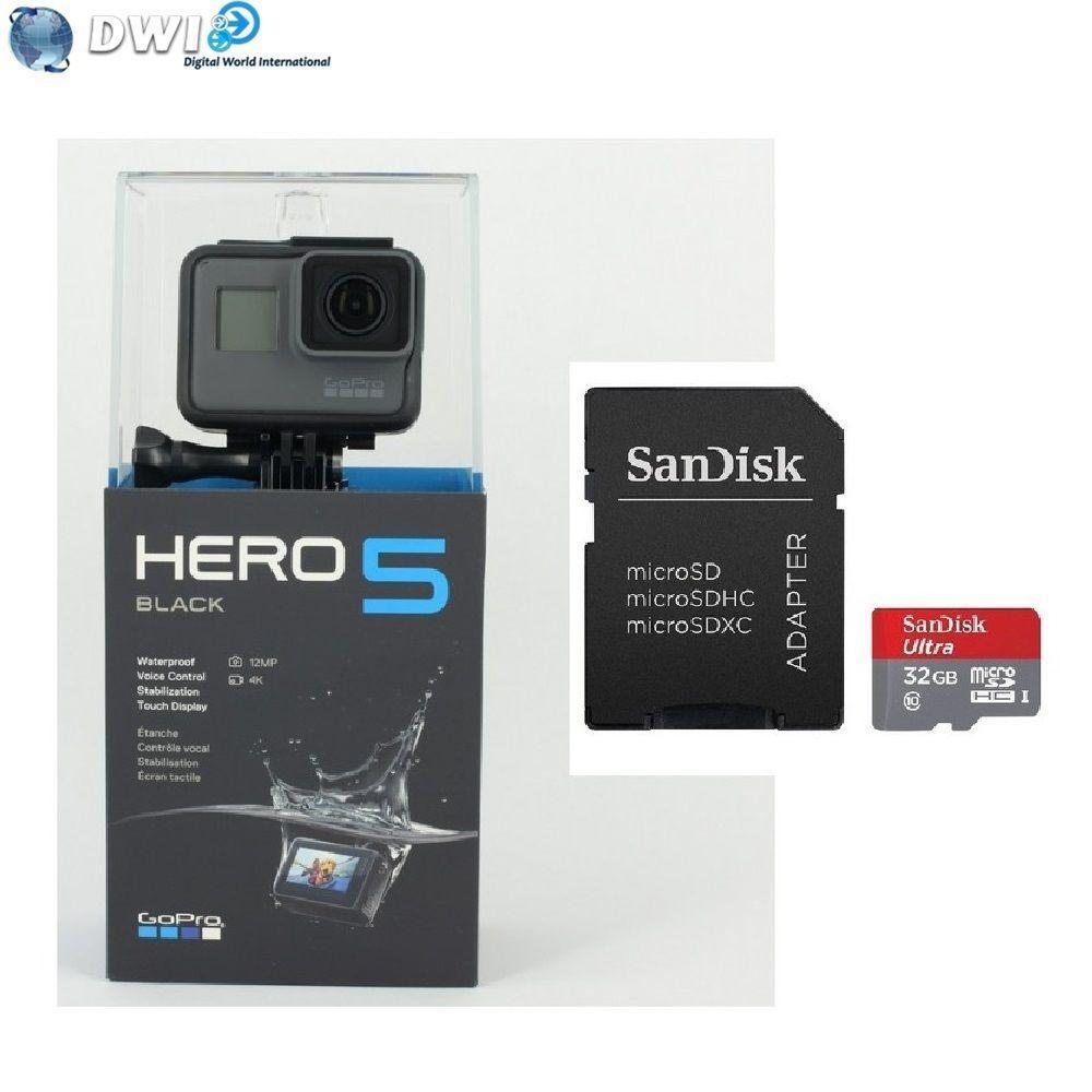 Caméra Gopro Hero 5 black HD + carte micro SD 32Go