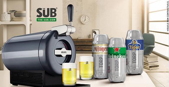 Coffret tireuse à bière The Sub avec 3 Torps et 2 verres