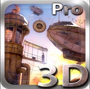 Sélection de papiers peints animés Android gratuit - Ex : Papier-peint animés 3D Steampunk Travel Pro Note gratuit (au lieu de 1.39€)