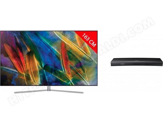 "TV 65"" Samsung QE65Q7F  - QLED, 4K UHD, 200 Hz, 163cm + Lecteur Bluray UBDK8500 + Bluray 4K Creed"